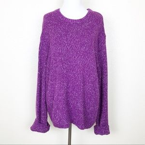 Urban Outfitters Purple Oversized Knit Sweater